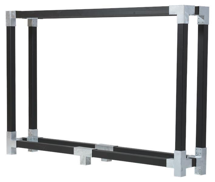 Kaminholzregal Brennholzregal Cubic Plus 286x50x188cm schwarz kdi Bild 1