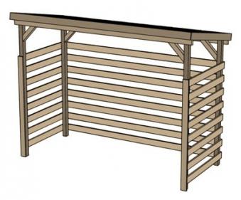 unterstellplatz kaminholzregal weka brennholzlager 663b gr 1 229x131cm bei. Black Bedroom Furniture Sets. Home Design Ideas