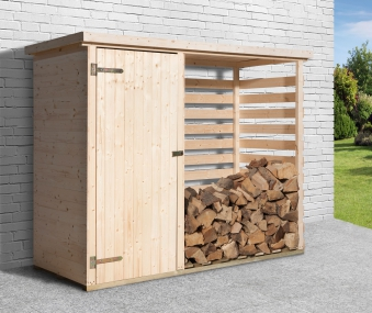 weka kaminholzregal brennholzlager 663 natur 254x96cm bei. Black Bedroom Furniture Sets. Home Design Ideas