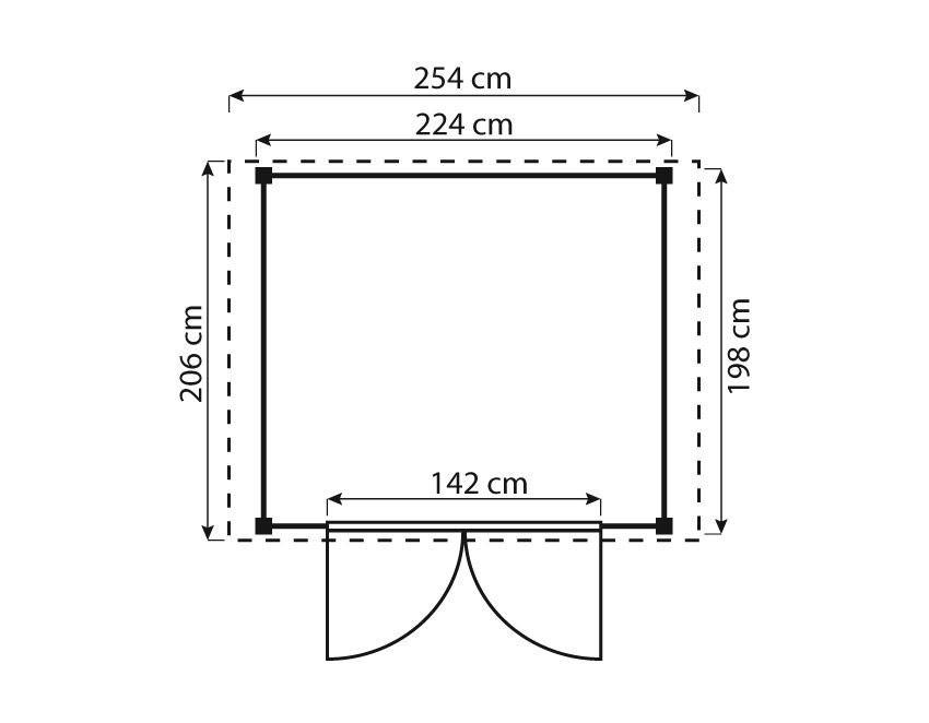 ediGarden Gartenschuppen 16 mm Größe 1 kdi 254x206cm Bild 2