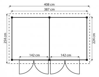 ediGarden Gartenschuppen 16 mm Größe 4 2in1 kdi 408x254cm Bild 2