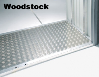 Bodenplatte Alu für Biohort Europa Gr.1, Geräteschrank, Woodstock150 Bild 2