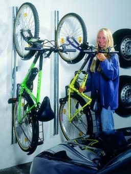 Fahrradhalter 2er-Set bikeMax für Biohort Europa und Geräteschrank Bild 3