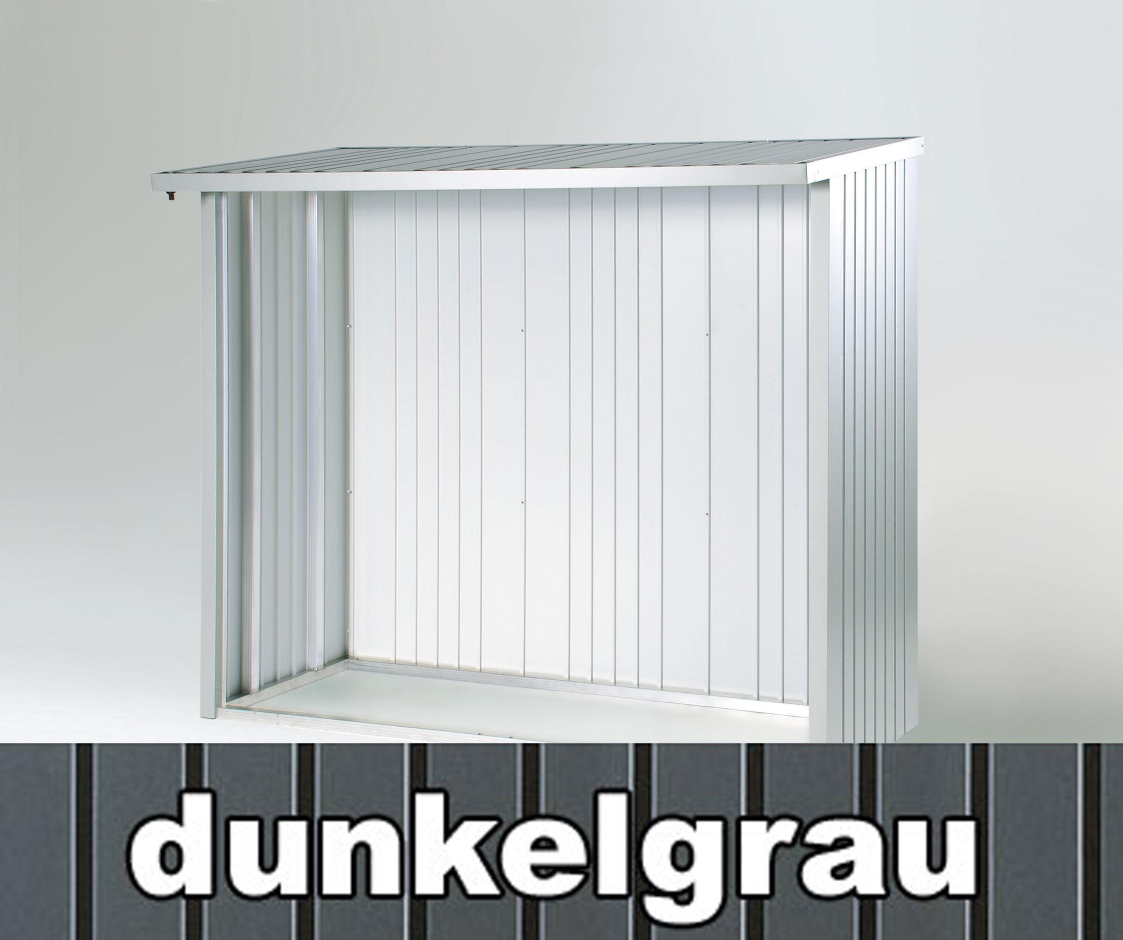 Rückwand Biohort Kaminholzregal / Geräteschrank Woodstock 230 d-grau Bild 2