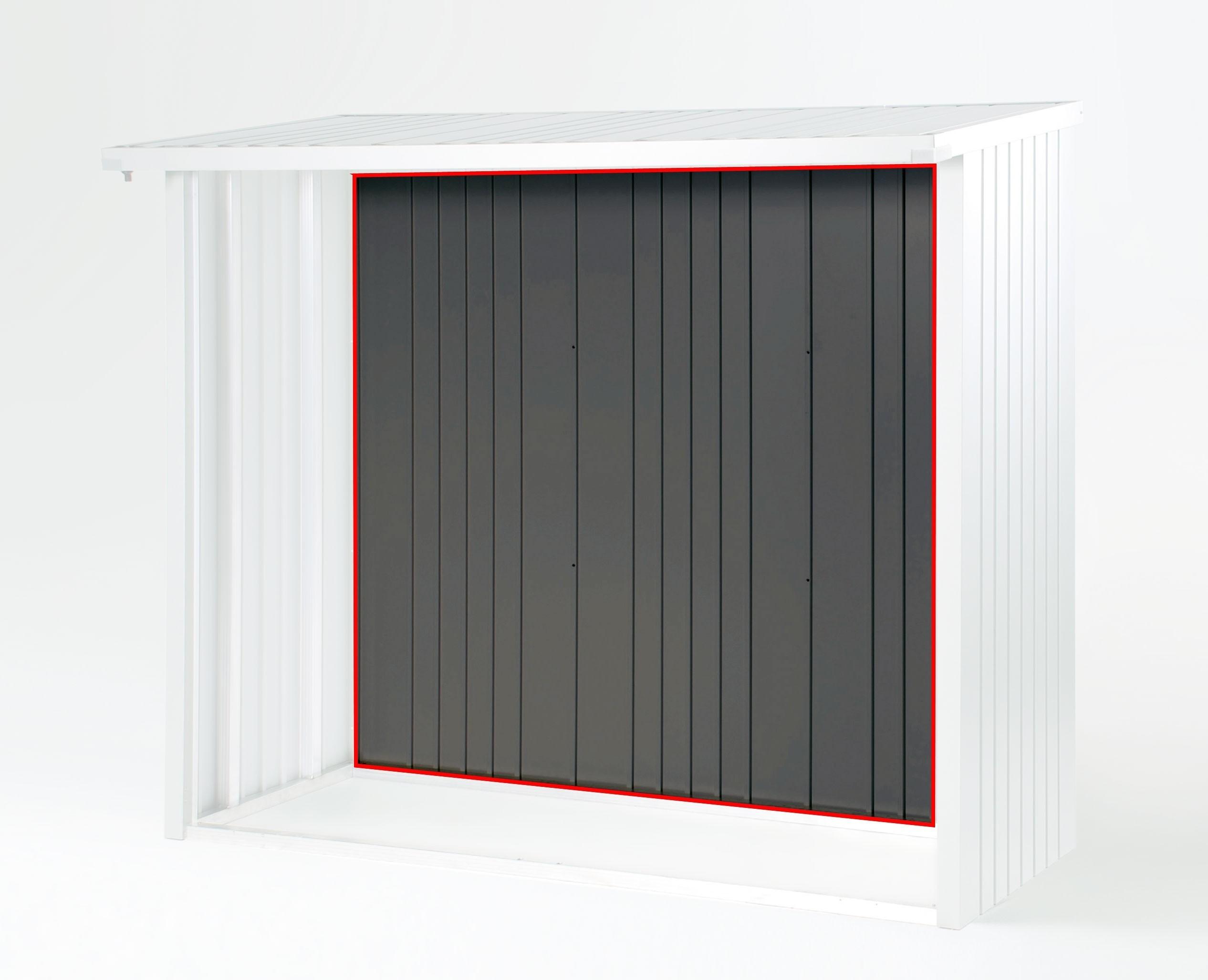 r ckwand biohort kaminholzregal ger teschrank woodstock 230 quarzgrau bei. Black Bedroom Furniture Sets. Home Design Ideas