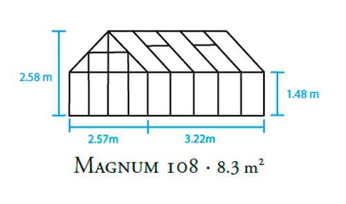 Unterschiedlich Juliana Gewächshaus Magnum 108 / 8,3m² Alu grün / 6 mm  EG22