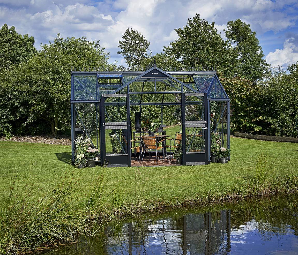 Erstaunlich Gwächshaus Juliana Orangerie 15,2m² anthrazit / 3mm  ZH28