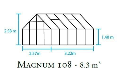 Gewächshaus Halls Magnum 108 8,3m² Alu 6mm Doppelstegplatten Bild 2