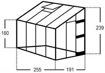 Gewächshaus Halls Royal 608 4,85m² 3mm Blankglas mit Fundament Bild 2
