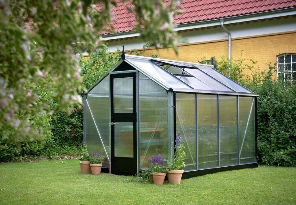 Gewächshaus Juliana Compact 6,6m² Alu silber 10mm Doppelstegplatten Bild 1