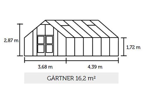 Gewächshaus Juliana Gärtner 16,2m² Alu silber 10mm Doppelstegplatten Bild 2