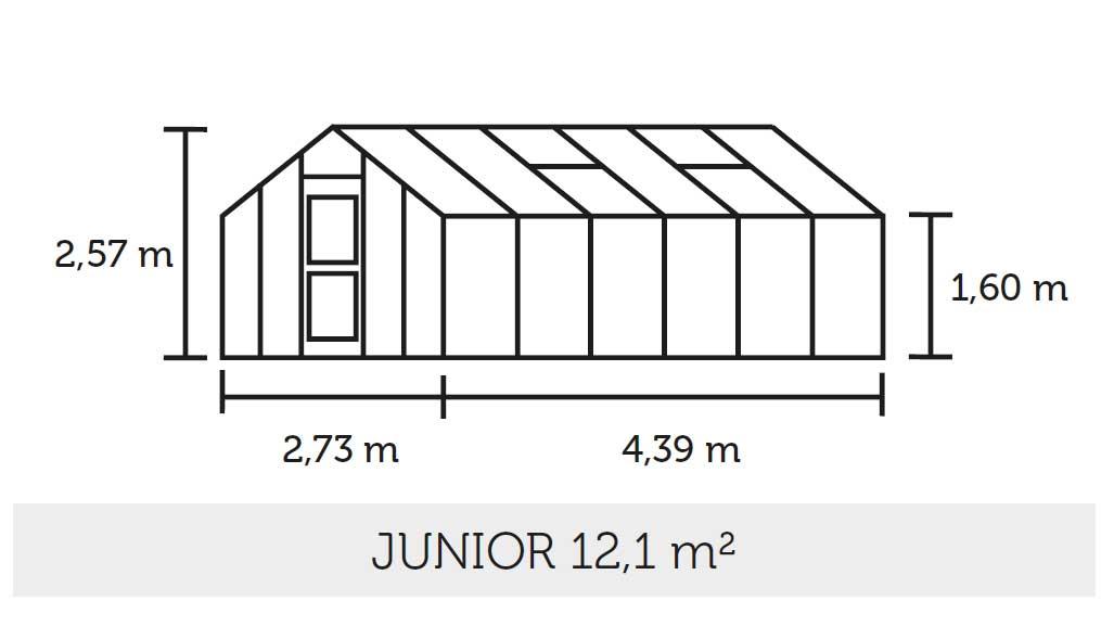 Gewächshaus Juliana Junior 12,1m² Alu silber 6mm Doppelstegplatten Bild 2