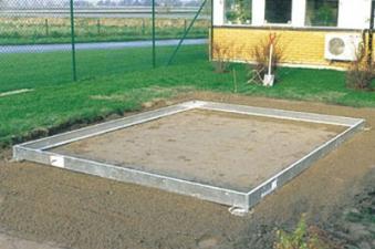 Stahlfundament für Gewächshaus Juliana Kompakt Plus 8,3m² silber