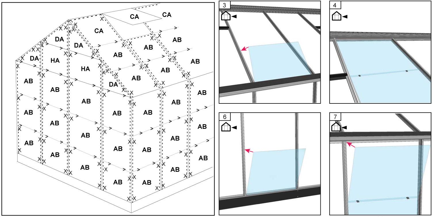 Gewächshaus Juliana Junior 9,9m² Alu anthrazit 3mm Blankglas Bild 3