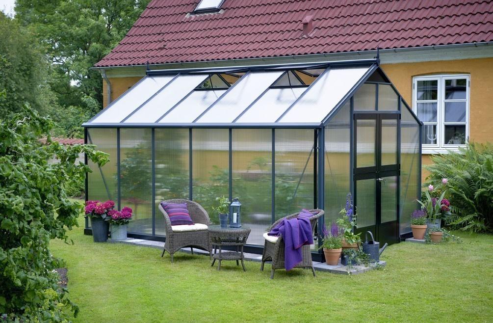 Gewächshaus Juliana Premium 10,9m² Alu anthrazit 10mm Doppelstegplatte Bild 1
