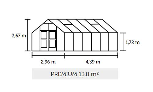 Gewächshaus Juliana Premium 13,0m² Alu anthrazit 10mm Doppelstegplatte Bild 2