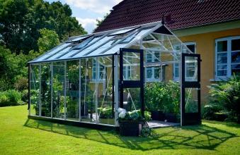 Gewächshaus Juliana Premium 13,0m² Alu silber 10mm Doppelstegplatten Bild 1