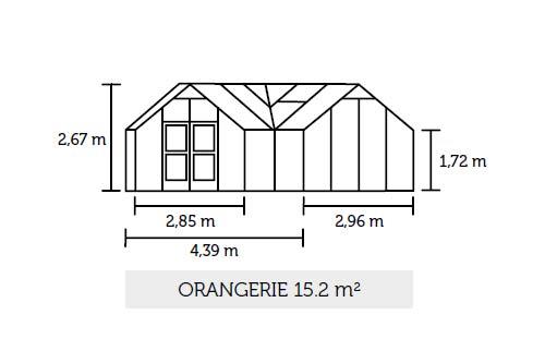 gw chshaus juliana orangerie 15 2m anthrazit 3mm sicherheitsglas bei. Black Bedroom Furniture Sets. Home Design Ideas