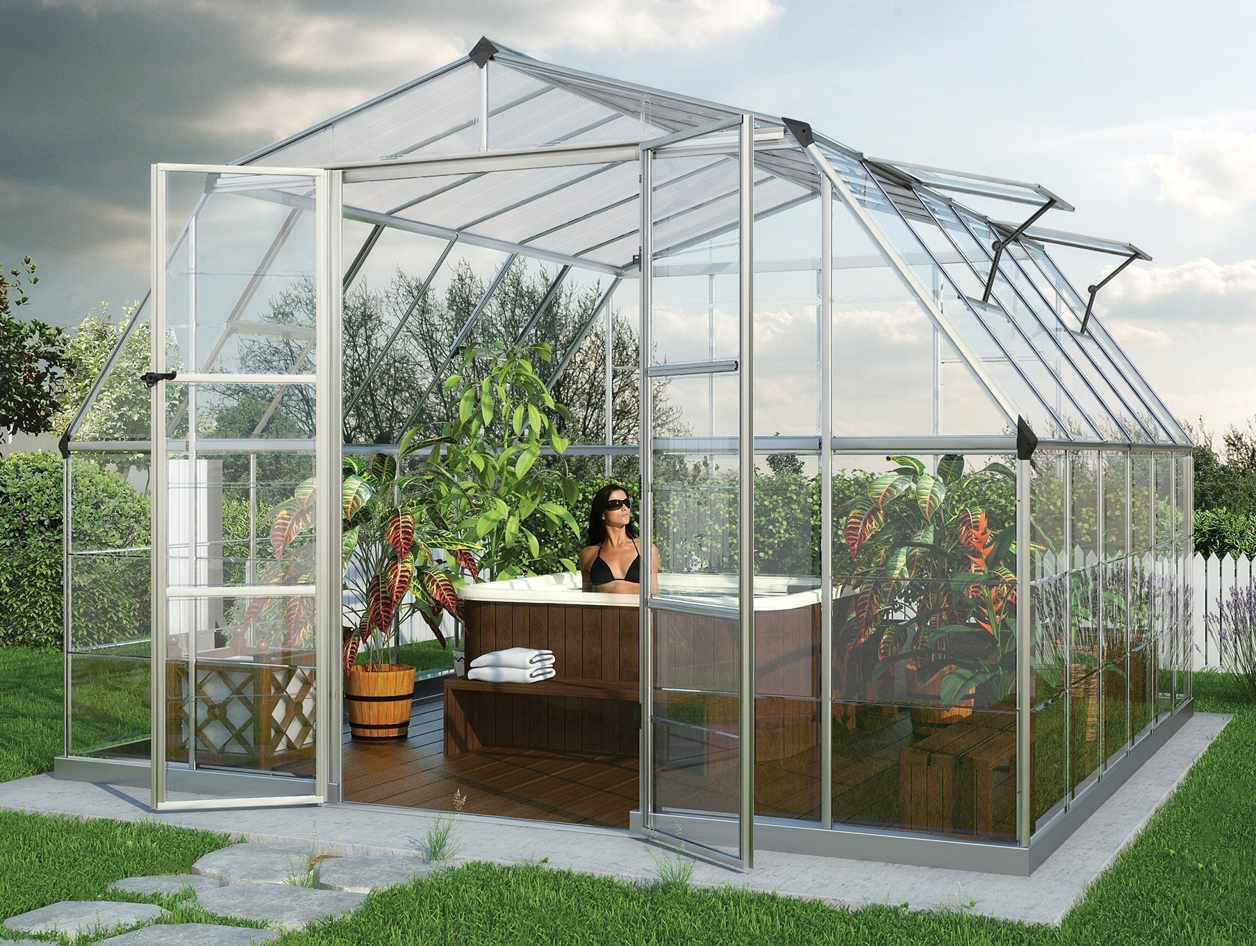 gew chshaus treibhaus tepro americana 12x12 alu 4 mm. Black Bedroom Furniture Sets. Home Design Ideas