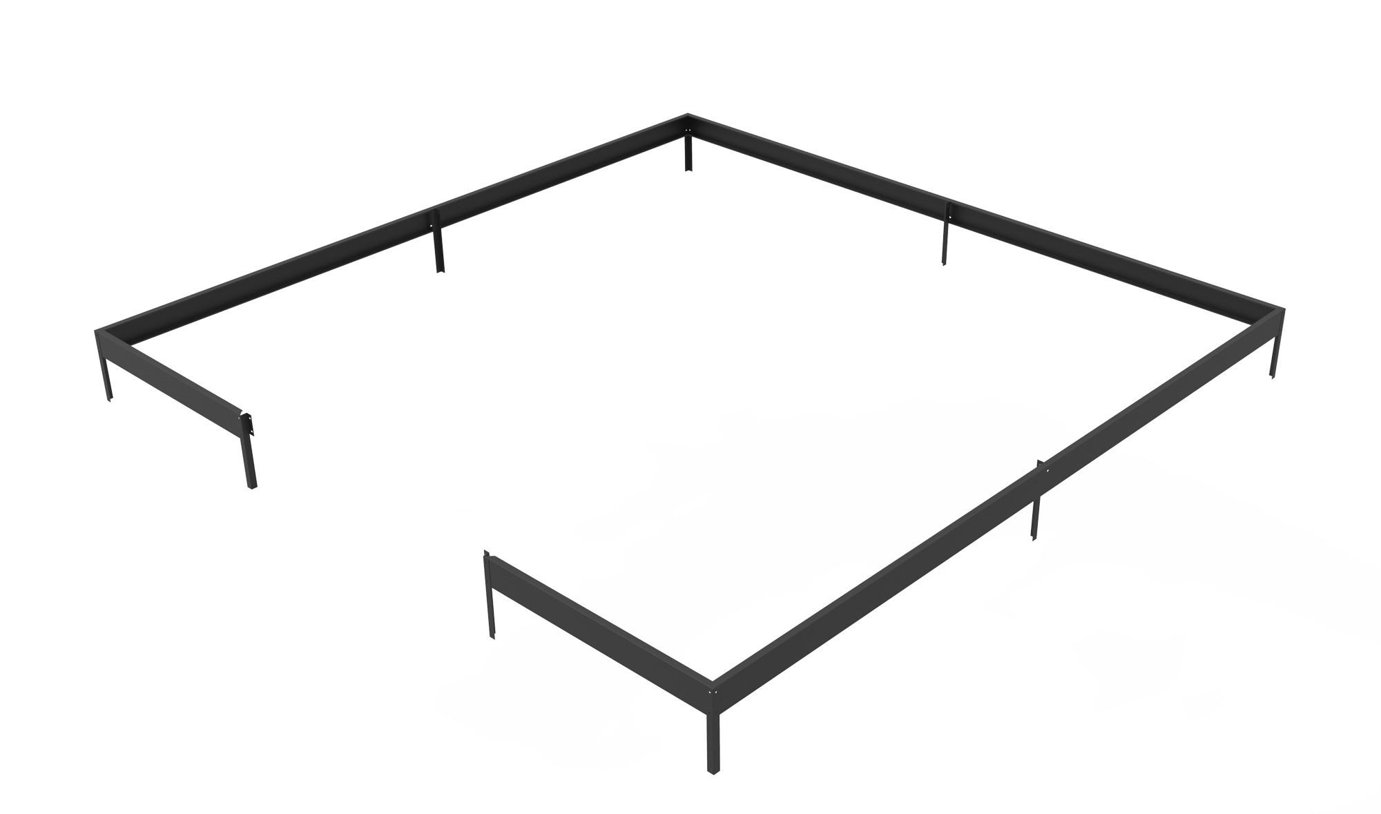 juliana fundament f r juliana gew chshaus oase 13 5 m schwarz bei. Black Bedroom Furniture Sets. Home Design Ideas