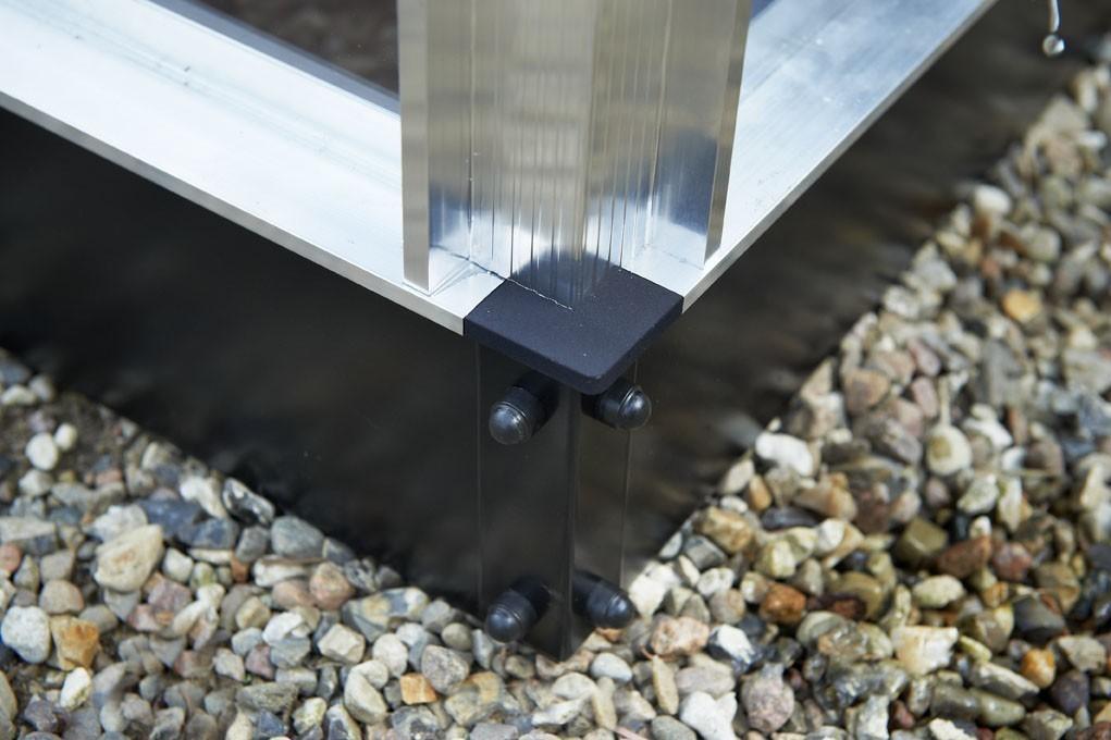 Stahlfundament für Gewächshaus Juliana Kompakt 6,6m² schwarz Bild 1
