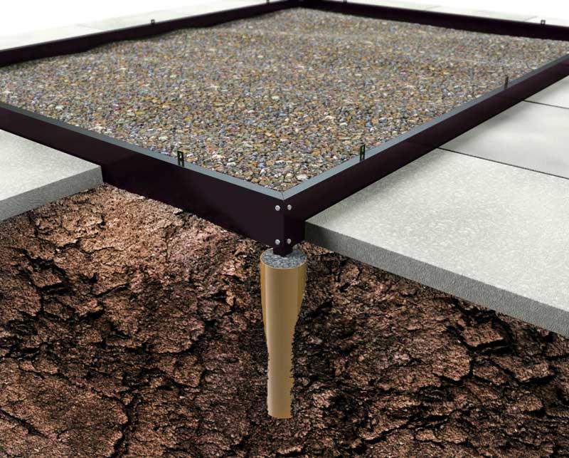 Stahlfundament für Gewächshaus Juliana Premium 13,0m² schwarz Bild 1