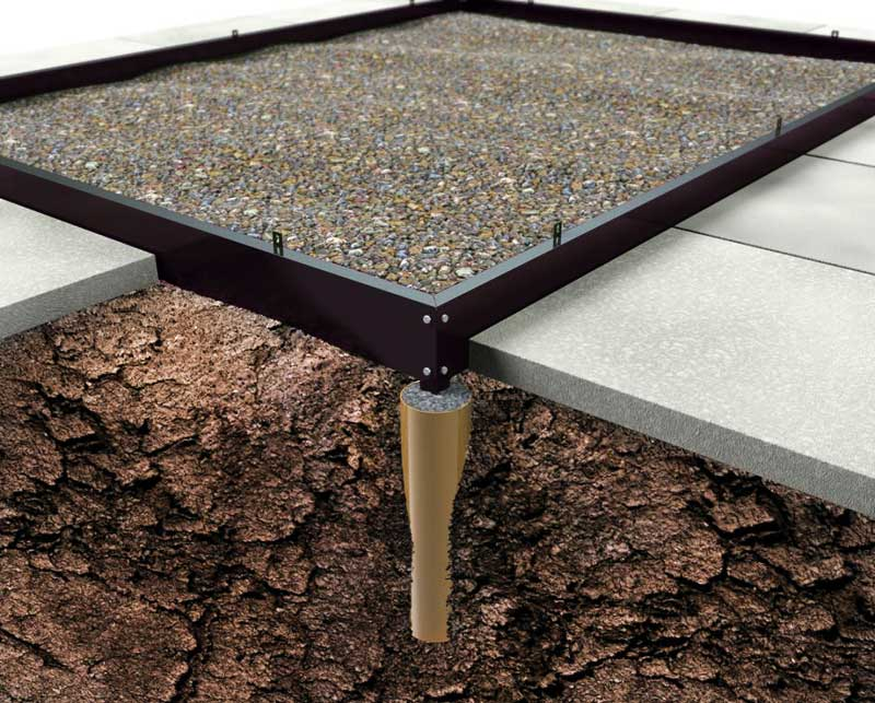 Stahlfundament für Gewächshaus Juliana Premium 8,8m² schwarz Bild 1