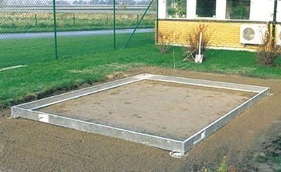 Stahlfundament für Halls Gewächshaus Popular 106 silber Bild 1