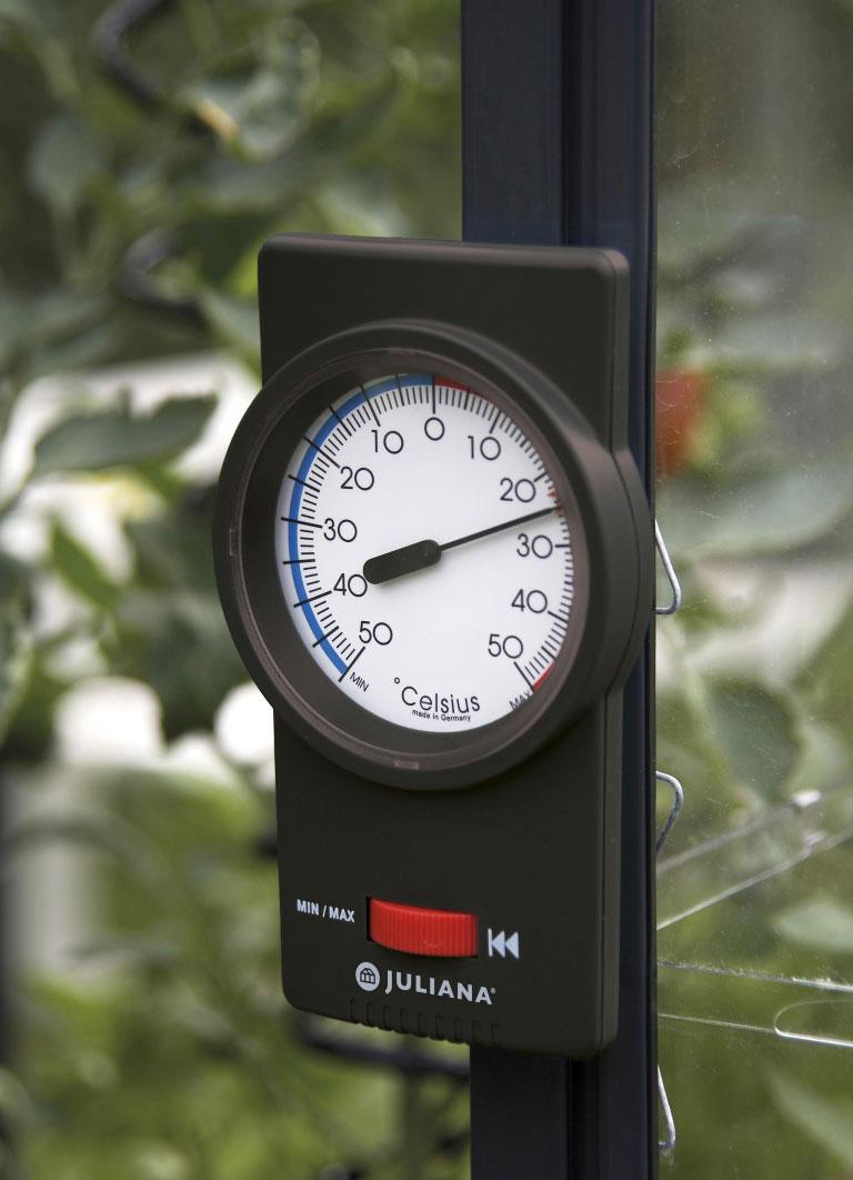 Thermometer Min. / Max. für Juliana Gewächshaus schwarz Bild 1