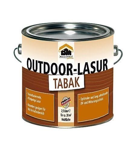 BM Massivholz Holzschutzlasur / Outdoor Lasur tabak 2,5 Liter Bild 1