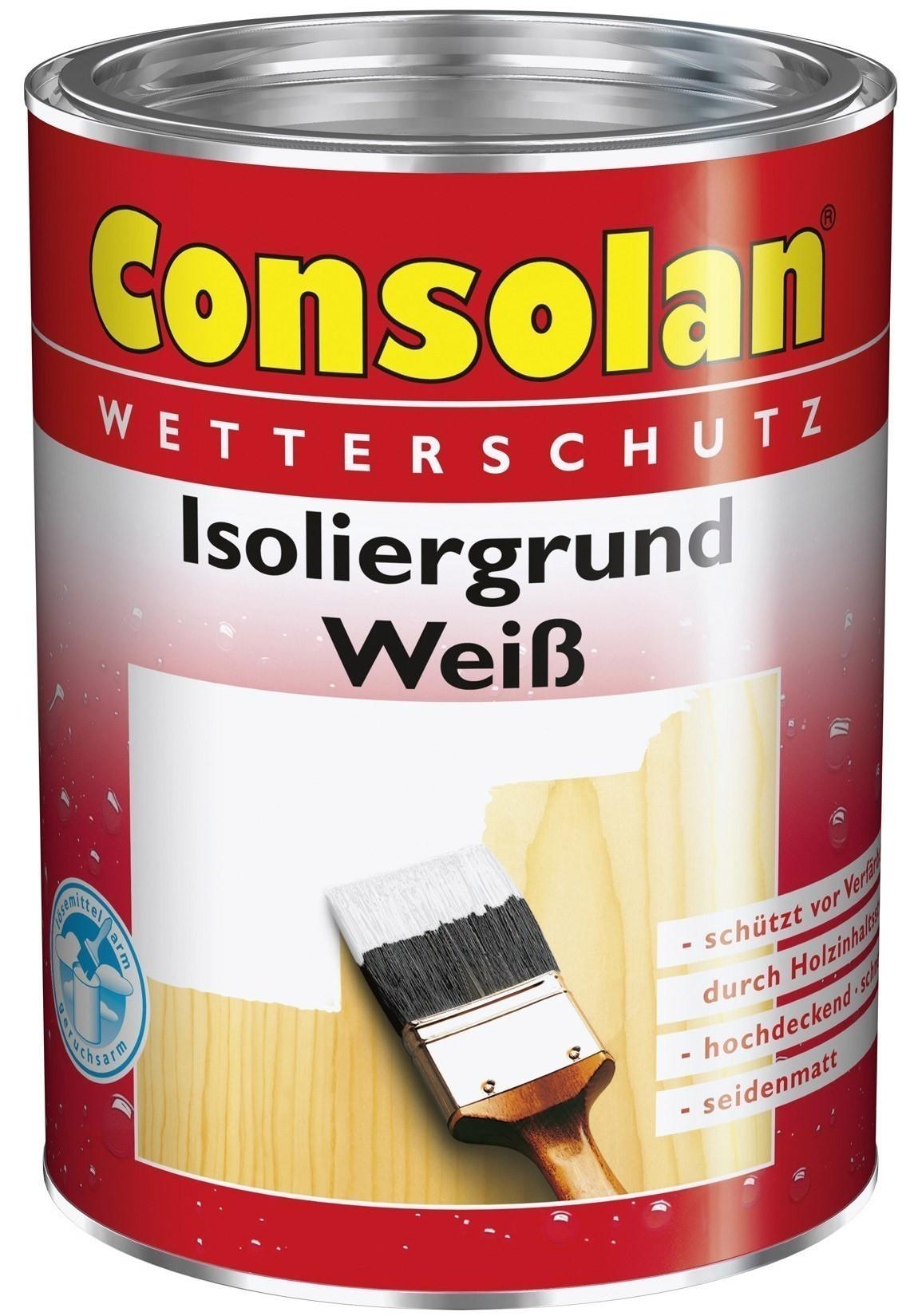 Consolan Isoliergrund weiß 2,5 L Bild 1