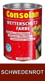 Consolan Wetterschutz Farbe schwedenrot 2,5 L Bild 1