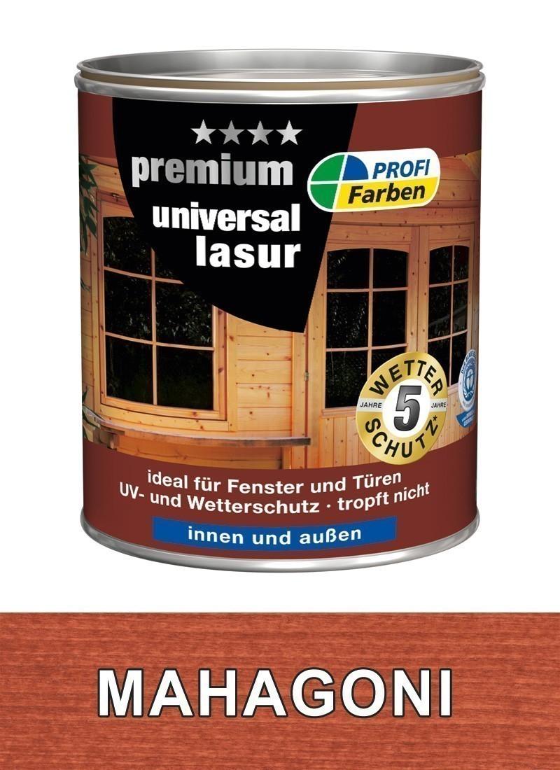 Holzschutzlasur Universal PROFI 750 ml Holzfarbe mahagoni Bild 1