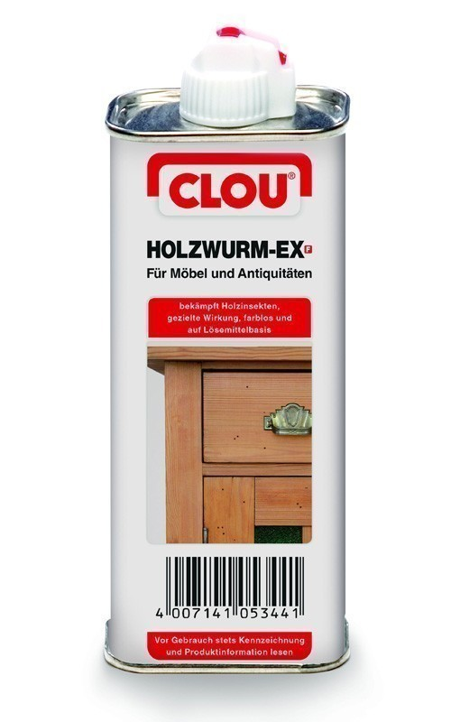 holzwurm ex clou f r m bel und antiquit ten 120 ml bei. Black Bedroom Furniture Sets. Home Design Ideas