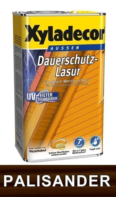 XYLADECOR Holzschutzlasur / Dauerschutzlasur 4 Liter palisander Bild 1