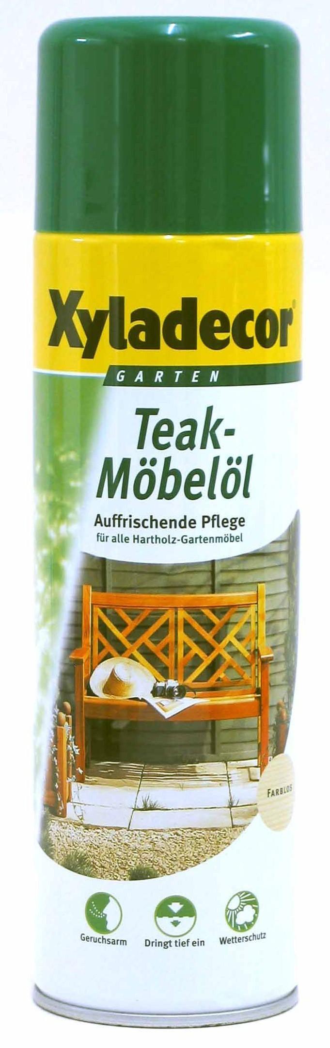XYLADECOR Teak Möbelöl Spray 500 ml / Holzpflege / Holzschutz Bild 1