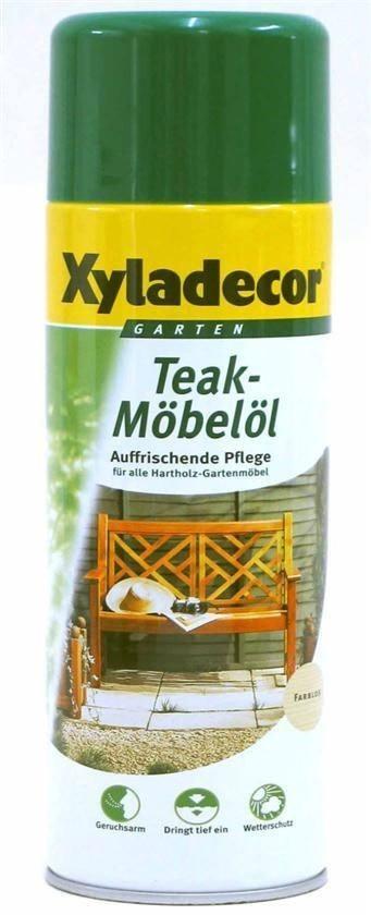 xyladecor teak m bel l holzpflege spray 500 ml farblos holzschutz bei. Black Bedroom Furniture Sets. Home Design Ideas