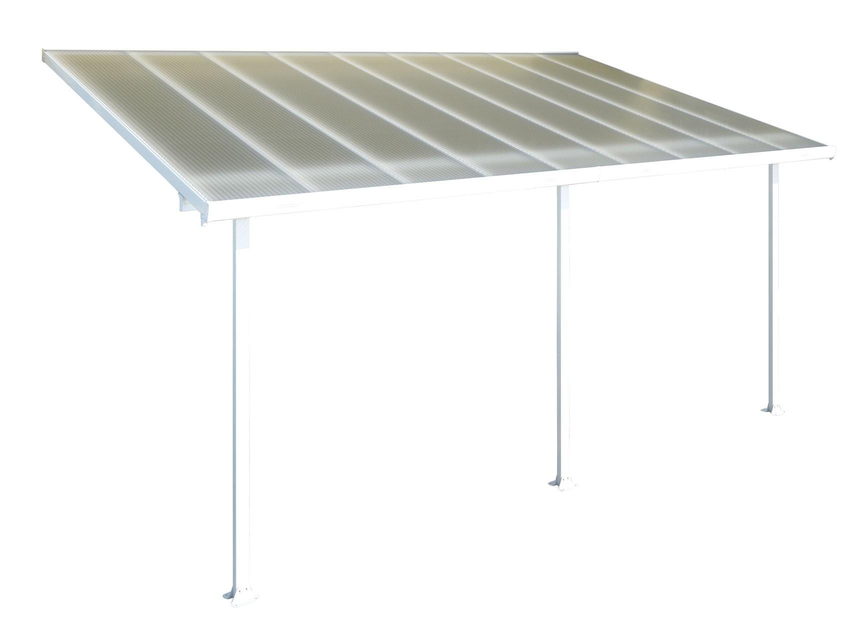 terrassen berdachung carport alu wei hohlkammerplatten 546x295cm bei. Black Bedroom Furniture Sets. Home Design Ideas