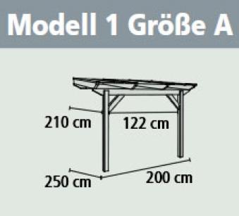 Terrassenüberdachung Karibu Classic 1 A Leimholz 200x250cm natur Bild 2