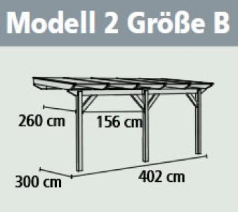 Terrassenüberdachung Karibu Classic 2 B Leimholz 402x300cm natur Bild 2