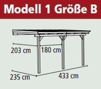 Terrassenüberdachung Karibu Eco Modell 1 B kdi 433x235cm Bild 2