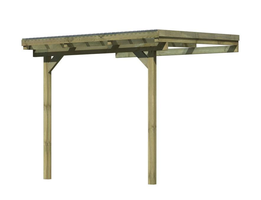 Terrassenüberdachung Karibu Eco Modell 2 A kdi 244x303cm Bild 3