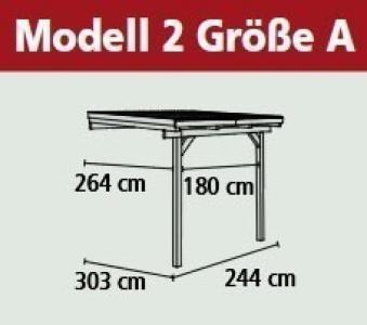 Terrassenüberdachung Karibu Eco Modell 2 A kdi 244x303cm Bild 2