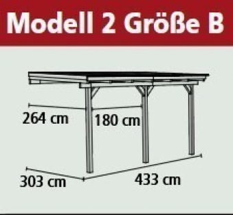 Terrassenüberdachung Karibu Eco Modell 2 B kdi 433x303cm Bild 2