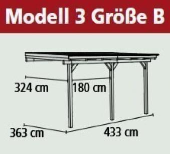 Terrassenüberdachung Karibu Eco Modell 3 B kdi 433x363cm Bild 2