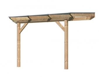 Terrassenüberdachung Karibu Modell 1 A gerade Douglasie 310x250cm Bild 1