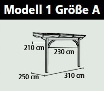 Terrassenüberdachung Karibu Modell 1 A gerade Douglasie 310x250cm Bild 2