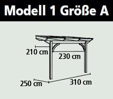 Terrassenüberdachung Karibu Modell 1 A rund Douglasie 310x250cm Bild 2