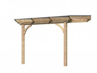 Terrassenüberdachung Karibu Modell 1 A rund Douglasie 310x250cm Bild 4
