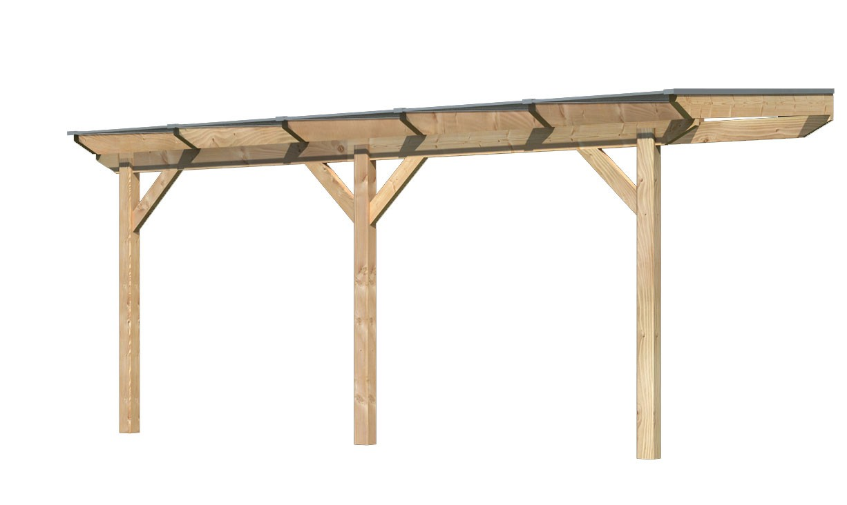 Terrassenüberdachung Karibu Modell 1 B gerade Douglasie 512x250cm Bild 1